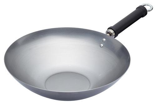 Kitchen Craft Wok Kolstål 30 Cm