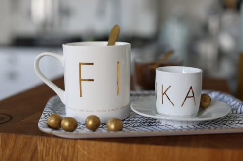 FIKA Mugg Guld Silver