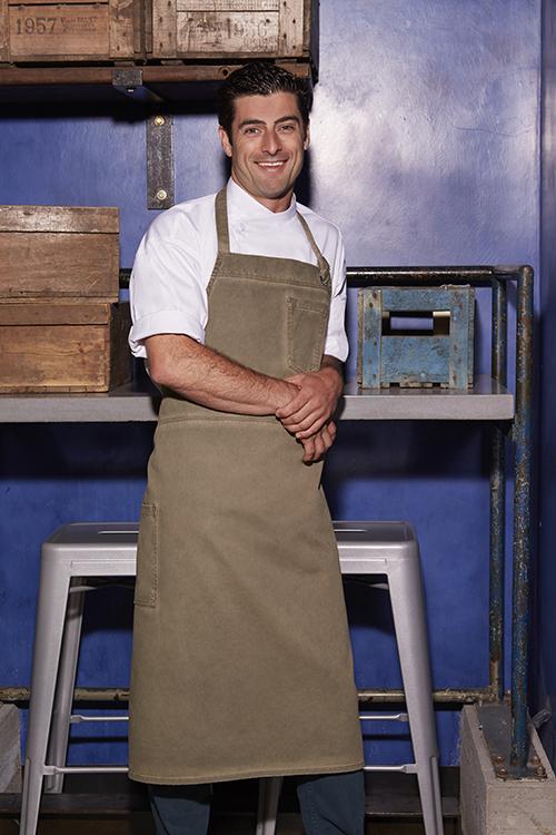 Chef Works Dorset Förkläde BIB Khaki